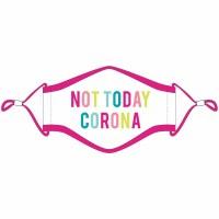 KATYDID Not Today Corona Fashion Face Mask w/Lanyard Adult