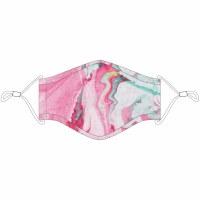 KATYDID Kid's Pink Marble Fashion Face Masks w/Lanyard Kids