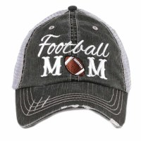 KATYDID Football Mom Trucker Hat One Size Grey