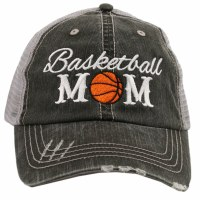 KATYDID Basketball Mom Trucker Hat One Size Grey