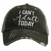 KATYDID I Can't Adult Today Trucker Hat One Size Grey