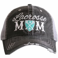 KATYDID Lacrosse Mom Trucker Hat One Size Grey