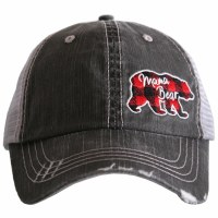 KATYDID Mama Bear Side Patch Trucker Hat One Size Grey