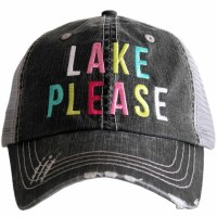 KATYDID Lake Please Trucker Hat One Size Grey