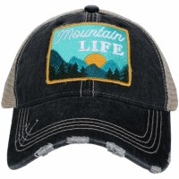 KATYDID Mountain Life Patch Trucker Hat One Size Grey