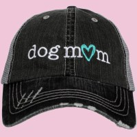 KATYDID Dog Mom Trucker Hat One Size Grey