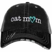 KATYDID Cat Mom Trucker Hat One Size Grey