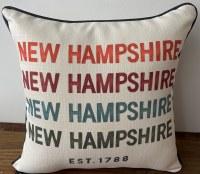 Little Birdie New Hampshire Established 1788 Pillow 17x17