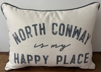Little Birdie North Conway Is My Happy Place Pillow 20x14