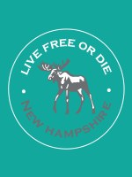 Woods & Sea Live Free Or Die Garment Dye Tee Small Faded Teal