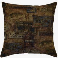 Creative Home Furnishings Lodge Pillow 17x17 Sierra