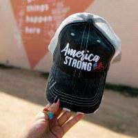 KATYDID America Strong  Women's Trucker Cap One Size Grey