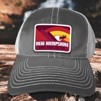 Woods & Sea New Hampshire Moose & Mountain Trucker Cap One Size