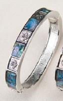 A.T. Storrs Maple Leaf Hinged Bracelet