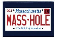 Sully's Tees Masshole License Plate Magnet N/A N/A