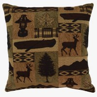 Creative Home Furnishings Medora Pillow 17x17 Evergreen