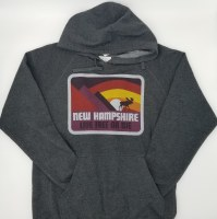 Woods & Sea New Hampshire Moose & Mountain Hoodie Small Grey