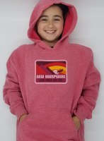 Woods & Sea New Hampshire Moose & Mountain Youth Hoodie Small Red