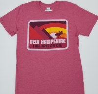 Woods & Sea New Hampshire Moose & Mountain Tee Small Red