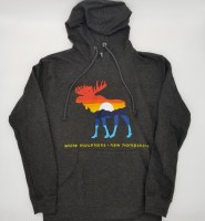 Duck Co. Mountain Moose Lightweight Hoodie Small Heather Charcoal