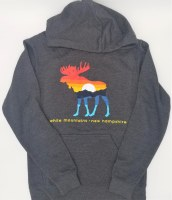 Duck Co. Mountain Moose Lightweight Hoodie Large Heather Charcoal