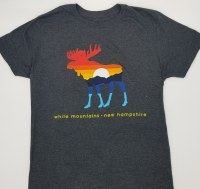 Duck Co. Mountain Moose S/S Tee Large Heather Charcoal