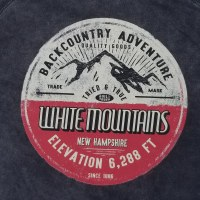 Duck Co. Mountain Quality White Mountains, New Hampshire Hoodie L Vintage Black