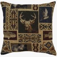 Creative Home Furnishings Mountain View Pillow 17x17 Denim