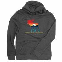 Duck Co. Mountain Moose Lightweight Hoodie Medium Heather Charcoal