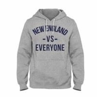 The Boston Sports Apparel New England Vs Everybody Hoodie Medium Athletic Grey