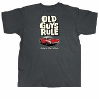 Old Guys Rule Putting The Class In Classic S/S Tee Medium Charcoal