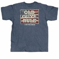 Old Guys Rule Flag Served S/S Tee Medium Navy Heather