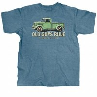 Old Guys Rule Classic Truck S/S Tee XX-Large Heather Indigo
