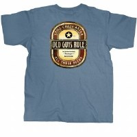 Old Guys Rule Crazy Brew S/S Tee Medium Lake Blue