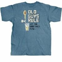 Old Guys Rule Good Times Flow S/S Tee Medium Heather Indigo