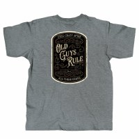 Old Guys Rule Vintage Beer Label Medium Heather Graphite