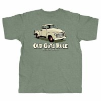 Old Guys Rule Long Haul T-Shirt Medium Heather Military Green