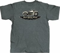 Old Guys Rule Winged Tradition S/S Tee M Dark Heather