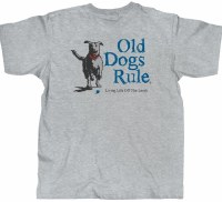 Old Guys Rule Leash S/S Tee M Sport Grey