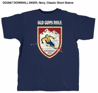 Old Guys Rule Downhill Skier S/S T M Navy