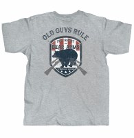 Old Guys Rule Bear Arms S/S T XL Grey