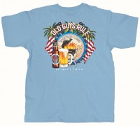 Old Guys Rule Red White & Brew S/S L Blue