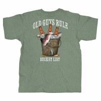 Old Guys Rule Fresh Bucket List M Military Heather Green