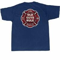 Old Guys Rule Badge of Honor S/S Tee Medium Navy