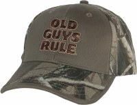 Old Guys Rule Bucks, Trucks & Ducks Cap One Size Olive