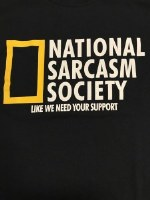 Pacific Art National Sarcasm Society S/S Tee Large Black
