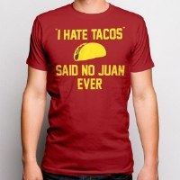 Pacific Art I Hate Tacos S/S Tee Small Heather Red
