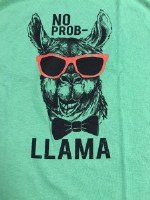 Pacific Art No Prob-Llama S/S Tee Small Grass Green