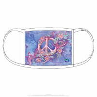 Liquid Blue Pastel Peace Face Covering One Size