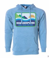 Woods & Sea Pata-New Hampshire Hoodie L Heather Pacific